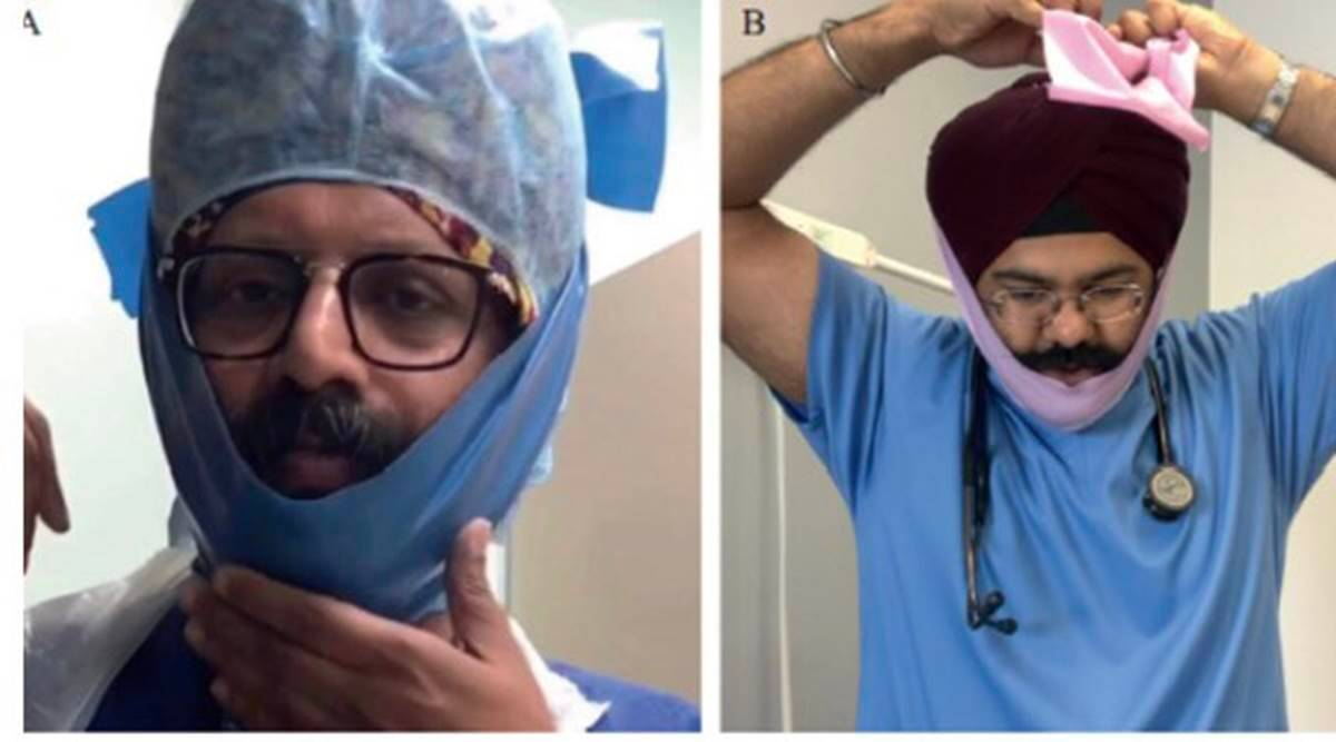 UK team trials 'Singh Thattha' to protect bearded doctors on COVID frontline