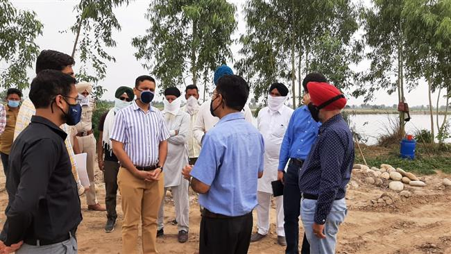 DC inspects flood protection works worth Rs 7.51 crore in distric